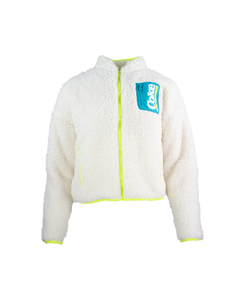 Coke Ladies Sherpa Zip Fleece Jacket