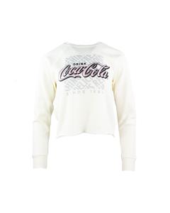 Coca-Cola Women's Cropped Fleece Sweatshirt