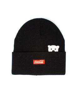 Coca-Cola Polar Bear Emoji Cuff Beanie