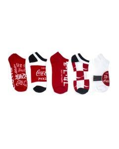 Coca-Cola Languages Women's Shoe Liner Socks - 5pk