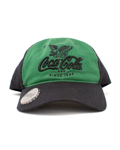 Coca-Cola Script 2 Tone Baseball Hat W/Opener