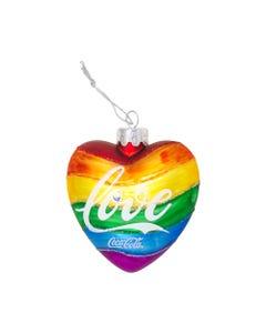 Coca-Cola Pride Heart Ornament