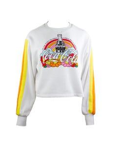 Coca-Cola Women's Crop LS Fleece