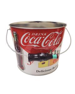 Coca-Cola Beverage Bucket - w/Bottle Handle