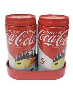 Coca-Cola S/P Set W/Caddy Tin