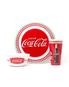 Coke Melamine Dinnerware Set 12 Pc.