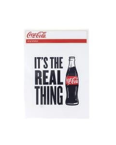 Coca-Cola Real Thing Bottle Sticker