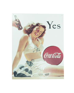 Coca-Cola Retro Bathing Beauty Metal Sign