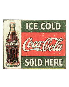 Coca-Cola 1916 Ice Cold Vintage Metal Sign
