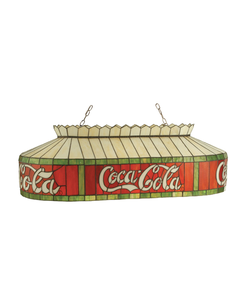 """Coca-Cola Stained Glass Oblong Pendant Light - 46"""""""