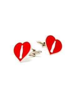 Coca-Cola Ambassador Heart Cufflinks