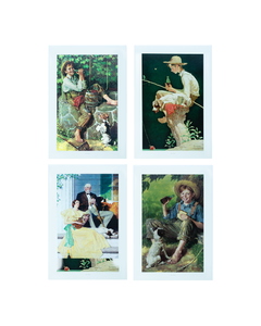 Coca-Cola Limited Edition Norman Rockwell Coca-Cola Prints - Set of 4