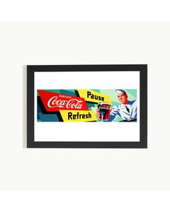 Coca-Cola Soda Jerk Art Print Poster-12x18 with Frame