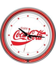 Coca-Cola White Neon Clock