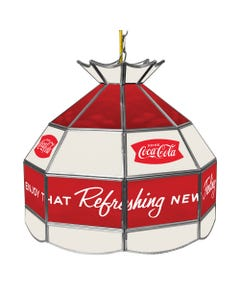 Coca-Cola Stained Glass Vintage Lamp
