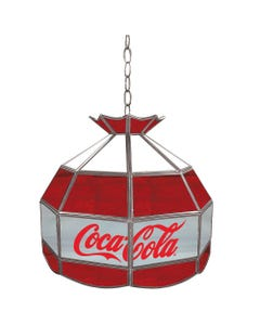 Coca-Cola Stained Glass Billiard Lamp