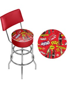 Coca-Cola Pop Art Bar Stool with Back
