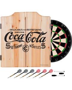Coca-Cola Vintage-Look Dart Cabinet Set