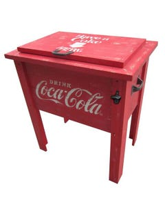 Coca-Cola Wood Cooler - 54QT