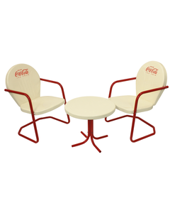 Coca-Cola Vanilla Tulip Bistro Set - 3PC