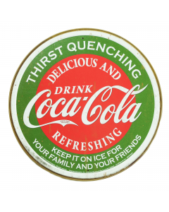 Coca-Cola Thirst Quenching Metal Sign