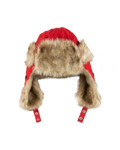 Coca-Cola Knit Quilted Trapper Hat