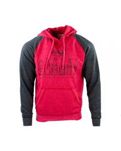 Bottle History Hoodie-S-Heather Red