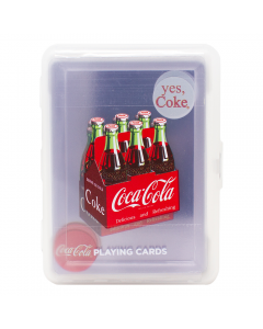 Coke Clear Plastic Playing Cards