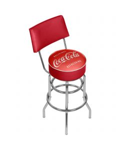Coca-Cola Delicious & Refreshing Bar Stool with Back