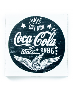 Coca-Cola Chalk Talk Wings Table Top Sign