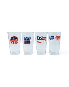 Coca-Cola Americana Pub Glasses - Set of 4 16oz.