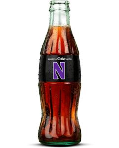 Northwestern Coca-Cola Bottle-Coke Zero Sugar-Logo