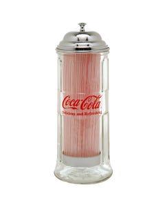 Coca-Cola Glass Straw Dispenser