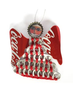 Coca-Cola Pull Tab Angel Ornament - Large