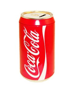 Coca-Cola Can Coin Bank - 8""