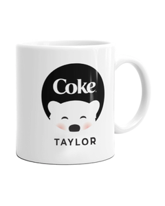 Customize Your Own - Polar Bear Emoji Black Coke Design Mug - 11 oz.