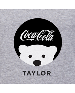 Customize Your Own - Polar Bear Emoji Black Coke Script Design