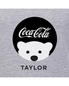 Customize Your Own - Polar Bear Emoji Black Coke Script Design