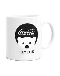 Customize Your Own - Polar Bear Emoji Black Coke Script Design Mug - 11 oz.