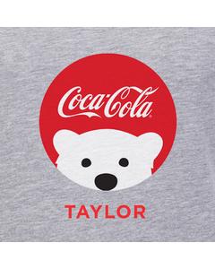 Customize Your Own - Polar Bear Emoji Red Coke Script Design