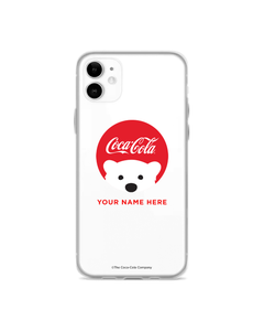 Polar Bear Red Emoji Red Coke Script Phone Case