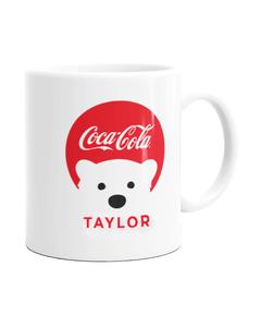 Customize Your Own - Polar Bear Emoji Red Coke Script Design Mug - 11 oz.