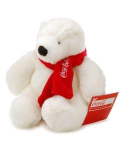"Coca-Cola Polar Bear with Scarf Plush - 6"""