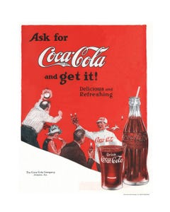 Coca-Cola Baseball Art Print Poster