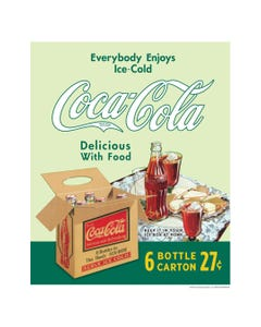 Coca-Cola Delicious With Food Art Print Poster