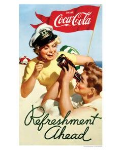 Coca-Cola Sailor Girl Art Print Poster