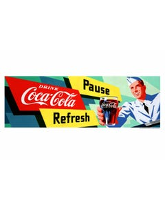 Coca-Cola Soda Jerk Art Print Poster