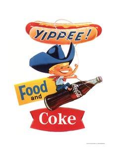 Coca-Cola Yippee Boy Art Print Poster