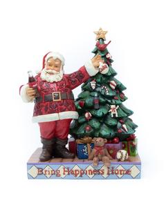 Coca-Cola Jim Shore Santa Decorating Tree Figurine