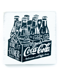 Coca-Cola Chalk Talk 6 Pack Table Top Sign